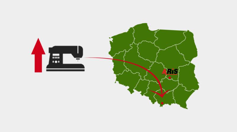 Szwalnia napołudniu Polski.