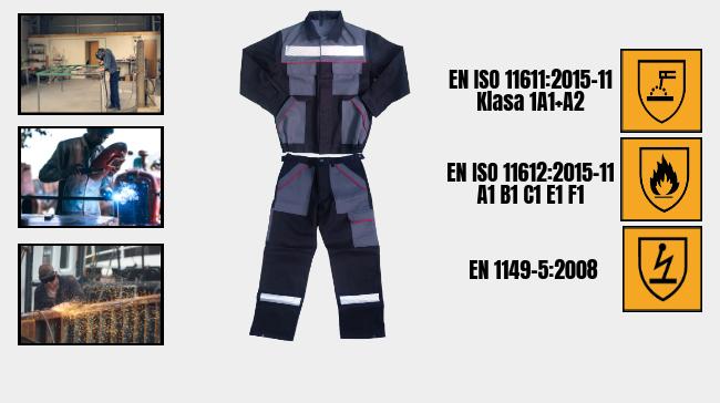 Ubranie antyelektrostatyczne itrudnopalne ARIS